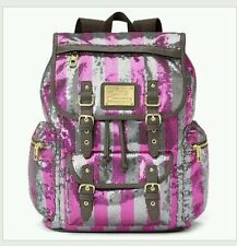 Juicy Couture Sequin Pink/Silver Striped Bling Backpack