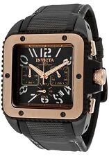 New Men's Invicta 1467 Cuadro Chronograph Black Dial Square Watch