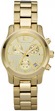 MICHAEL KORS MK5384 RUNWAY CHRONOGRAPH ROUND GOLD TONE FACE BRACELET WATCH