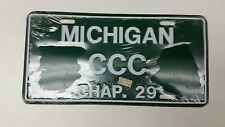 EXPIRED MICHIGAN Chapter 29 License Plate CCC