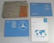 Bordmappe + Betriebsanleitung Mercedes Benz W126 380 500 SE + SEL + SEC von 1981