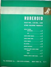 RUBEROID ETERNIT Roofing Siding Shingles Board Catalog ASBESTOS CEMENT 1944