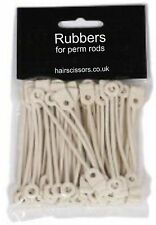 Perm Band Rubbers For Perm Rollers Rods Pack of 50 LONG ROUND fits all size rods
