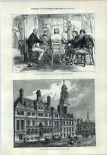 1876 New Townhall Leicester Just Opened Reading The News In Belgrade
