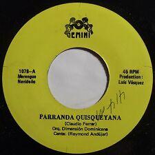 ORQUESTA DIMENSION DOMINICA: SUPER RARE GEMINI 45 ~ MERENGUE NYC latin HEAR IT!