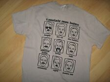 Moustache Mustache Tee - Facial Hair Upper Lip Means Business T Shirt Medium