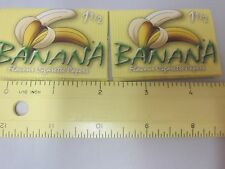 Vtg Banana Rolling Papers 2 Lot NOS Flavour Cigarette Papers Made in Spain