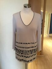 Faber Jumper Size 10 BNWT Beige Black RRP £112 Now £39