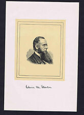 Edwin M. Stanton Secretary of War under Lincoln -1901 Woodcut Portrait Print