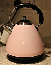 NEW! Kitchen Retro Pastel Dusty Pink Stainless Steel Pyramid Electric Kettle Aid