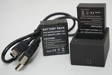 2x Battery + Dual Charger for GoPro Hero 3 Hero 3+ Silver Edition Black Edition