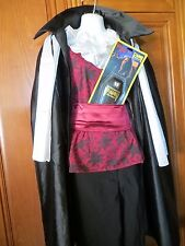 DELUXE VAMPIRE COSTUME INCLUDES NEW FANGS - MEN ONE SIZE