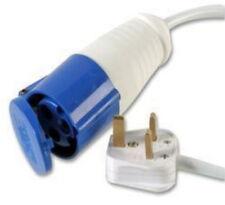 5M Mains electric hook up adaptor UK 16A Socket 13A Plug Caravan Converter Metre