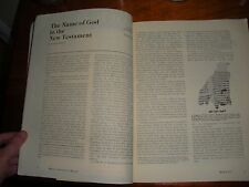 Biblical Archaeology Review March 1978 JEHOVAH New Testament Watchtower Research