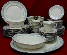 LENOX china CHARLESTON pattern 60-pc SET for 12 + Oval Platter Oval Bowl & Gravy