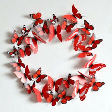 Red Pretty DIY 3D Butterfly Wall Sticker Decal Home Decor Art Room Decoration