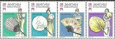 China Macau - Tradition. chin. Fächer postfrisch 1997 Mi.932-935 Viererstreifen