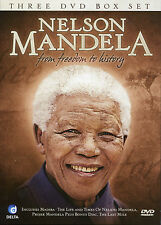 NELSON MANDELA FROM FREEDOM TO HISTORY - 3 DVD BOX SET - LIFE & TIMES & MORE