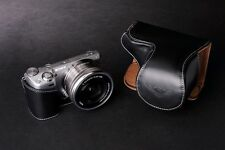 Handmade  Black Genuine real Leather Full Camera Case bag for Sony NEX5T NEX5R