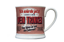 Wein Becher WEIN TRINKEN BECHER Retrobecher Kaffeebecher von GlasXpert