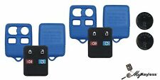 NEW BLUE FORD KEYLESS ENTRY REMOTE KEY FOB DIY CASE REPAIR KIT W/ BATERY PAIR