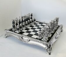 Fine Italian Silver and Marble Chess Set SC0100
