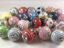 12 Mixed Wholesale Cheap Ceramic Cupboard Kitchen Door Knob 'Slight Second' Sale