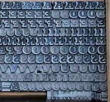 Bleischrift 6 mm Bleisatz Buchdruck Handsatz Alphabet Schrift ABC Letter Blei