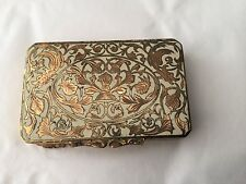 Vintage Made in Italy enameled powder puff compact