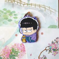 "2"" SIX SAME FACES Mr.Osomatsu San Matsuno Ichimatsu w Cat Anime Phone Strap"