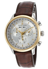 Maurice Lacroix Les Classiques LC1228-PVY11-130 Silver Dial Chrono Leather Watch