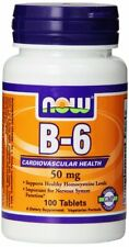 NOW Foods Vitamin B-6 50 mg 100 Tablets