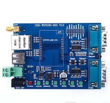 RS232/RS485 Serial to WIFI to Ethernet Module Evaluation Board WIFI module WIFI