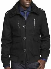 New EXPRESS Men's Black Military Wool Bomber Coat Jacket, nwt, XL, $230 **LAST**