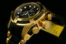 Invicta Reserve Bolt Zeus Swiss Movt Chrono 18K Gold Plated S.S Poly Strap Watch