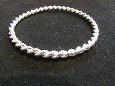 ladys silver rope twist bangle all handmade new for 2015 with free gift bag