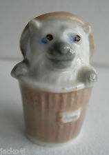 NICE VINTAGE 1950's WADE NOVELTY ANIMAL FIGURINES DUSTBIN CAT MODEL HARD TO FIND