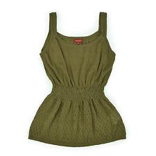 BURBERRY LONDON Damen Trägertop UK50 EU XXL Leinen grün Woman Shirt Oberteil NEU