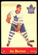 1955 56 PARKHURST HOCKEY #8 JIM MORRISON  VG-EX TORONTO MAPLE LEAFS  CARD