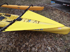 Yellow Spray Shield Set for  Hobie Mirage Adventure Island  kayak  - early model