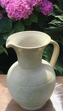 Beautiful huge Hillstonia stoneware Jug. C 1950s. 11 inches tall.