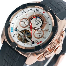 FORSINING Men's Luxury Sport Auto Mechanical Wrist Watch Date Silicone Rubber