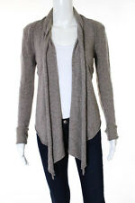 Inhabit Brown Cashmere Open Front Long Sleeve Cardigan Size Small
