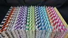 25 pcs Colorful Drinking Paper Straws Striped Polka Chevron Wedding Party