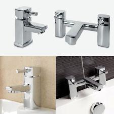 QUADRATO Bagno moderno in ottone cromato rubinetto Set Miscelatore Lavabo mono bagno Filler Pack