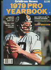 Gridiron News -1979 Pro Yearbook NFL Terry Bradshaw Don Shula    MBX41