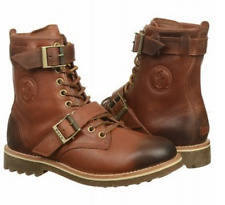 New POLO RALPH LAUREN MAURICE Men Winter High Leather Boots Brown Oil Pull SZ 9