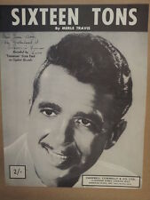 song sheet SIXTEEN TONS Tennessee Ernie Ford 1947