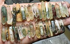 92g 30+Pcs Natural Green Phantom Ghost QUARTZ Crystal Wand Point Specimens Y78
