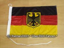 Fahnen Flagge Deutschland Adler Bootsfahne Tischwimpel Biker - 30 x 45 cm